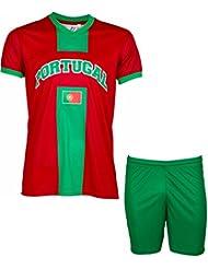 Trikot + Shorts Portugal–Fan-Kollektion–Kindergröße