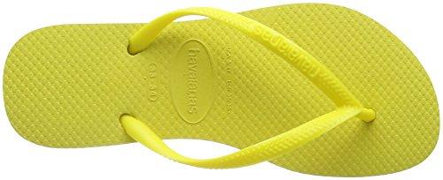 Havaianas Slim, Tongs Femme Jaune (Light Yellow 0013)