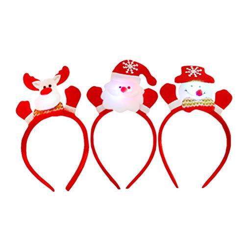 hten Stirnbänder Leuchtendes Haar Zubehör Schneemann und Elk Toppers Party Kostüm Gefälligkeiten Kinder ()