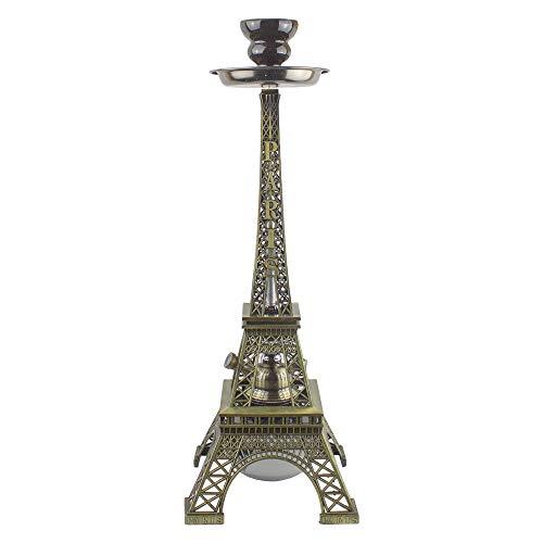 PAIDE P Shisha de diseño París Premium - 42 centímetros - Torre Eiffel - Cachimba Hookah Premium...