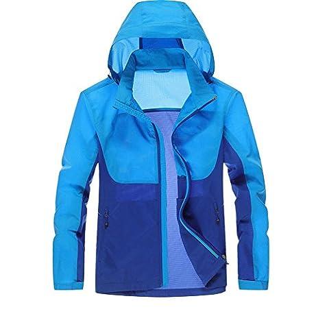 TAPOO Coupe-vent Veste Légers Sport Hommes à Capuche Protection UV à Séchage Rapide Printemps-été-Automne Jacket