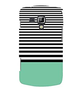 FIOBS stripes black and white abstract art creative design Designer Back Case Cover for Samsung Galaxy S Duos 2 S7582 :: Samsung Galaxy Trend Plus S7580