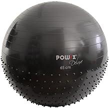 POWRX Gymnastikball mit Massage-Noppen | Massage Sitzball 2 Oberflächen 55cm 65cm 75cm | Für einen gesunden Rücken | Gym Ball ideal für das Büro oder zu Hause