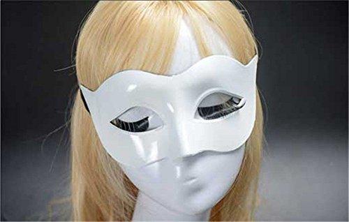 Frau Zorro's Kostüm - Masken Gesichtsmaske Gesichtsschutz Domino falsche Front Männer Maske Halloween Kostüm Tanz Maske Dame Einfarbig Minimalistisch Halbes Gesicht Zorro Halbes Gesicht Maske weiß