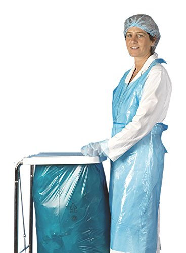Mediware H7 0400B Einmal Schürzen, Damengröße, Blau (100-er Pack)