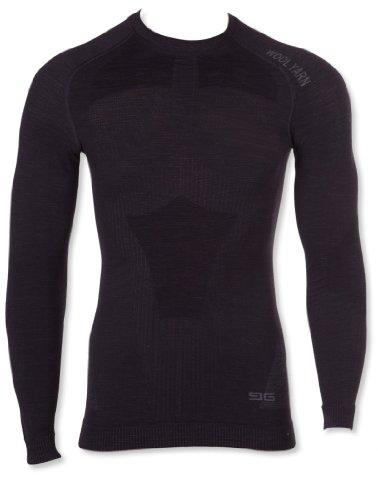 Gatta Gat T-Shirt L Wool Men - sous-Vêtement Fonctionnel en Laine mérinos thermoactive Seamless Technology - Noir -