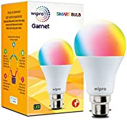 Wipro WiFi Enabled Smart LED Bulb B22 9-Watt (16 Million Colors + Warm White/Neutral White/White) (Compatible
