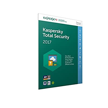 Kaspersky Total Security 2017 (3 Devices, 1 Year) FFP (PC/Mac/Android)