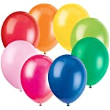 GB Balloons Plain Multicolor Party Balloons 30pc
