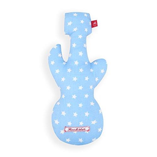 La Fraise Rouge 4251005600221 Rassel Gitarre Pierre, hellblau mit weißen Sternen (Sterne-gitarren)