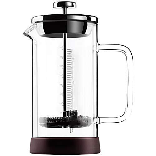 Wanlianer French Press Kaffee- und Teekocher Kaffee Französisch Press Pot Hand gebrühter Kaffee Filter Cup Filter Haushalt Hand Made Coffee Press Cup (Farbe : Clear, Größe : 300ml)