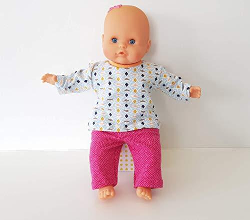 MepsiDesigns Handmade Puppenkleidung Set für 32cm my little Baby Born - pink gemustert
