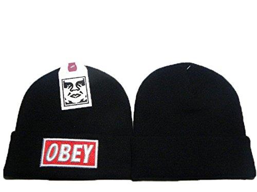 OBEY protezione del cappello Beanie Lana (nero)