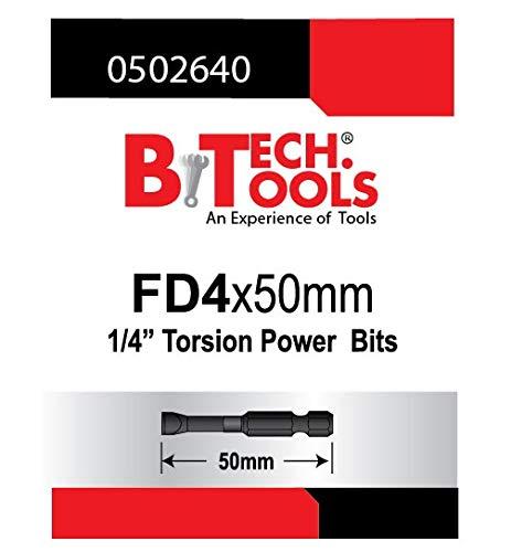 B.TECH TOOLS B. Tech 0502640 ACR Torsions-Bit, Schlitz, FD4.0, 50 mm