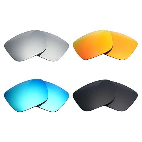8e863ee939 Mry 4 paires polarisées Verres de rechange pour Spy Optic Helm Sunglasses- stealth Noir