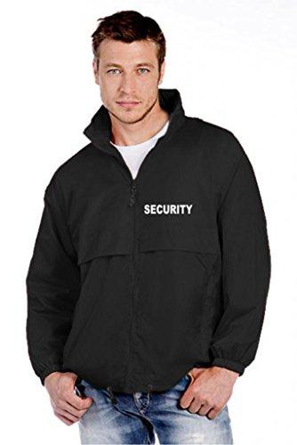 """Preisvergleich Produktbild SECURITY-WINDBREAKER / REGENJACKE bedruckt mit """"SECURITY"""" Grösse XXXL, schwarz, wasserdicht, Kapuze"""