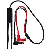 SODIAL(R) Chip de prueba SMD Meter Clip Lead sonda multimetro pinzas Resistencia condensador