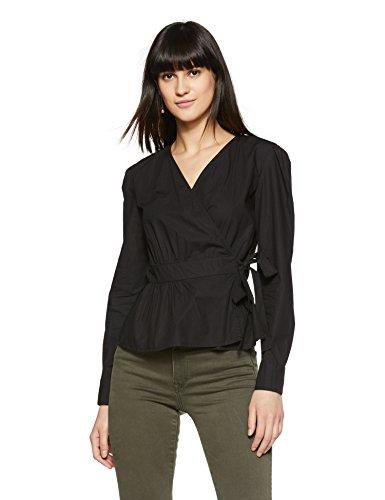Vero Moda Vmniris Shirt L/s Wrap Top D2-1, Blusa para Mujer, Blanco (Snow White), 36 (Talla del Fabricante: Small)