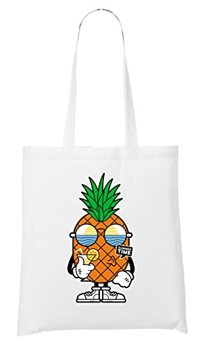 Certified Freak Summer Time Pineapple Stofftasche White