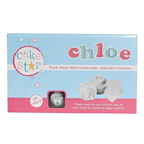 Cake Star Mini Push Cutters - Lowercase Alphabet Set 26 Piece