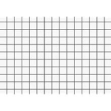 Brunnen Index Cards, Cardboard 180 g/m² Index Card Box A8 Landscape Squared White