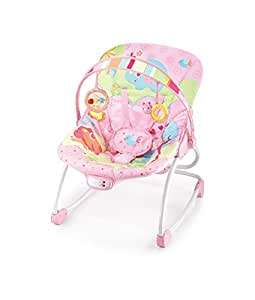 Cute Baby - Pink Animal Forest Rocker - Recline Vibrating & Musical(6903)