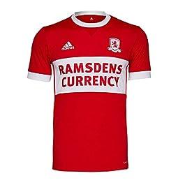 Adidas 2017-2018 Middlesbrough Home Football Soccer T-Shirt Maglia