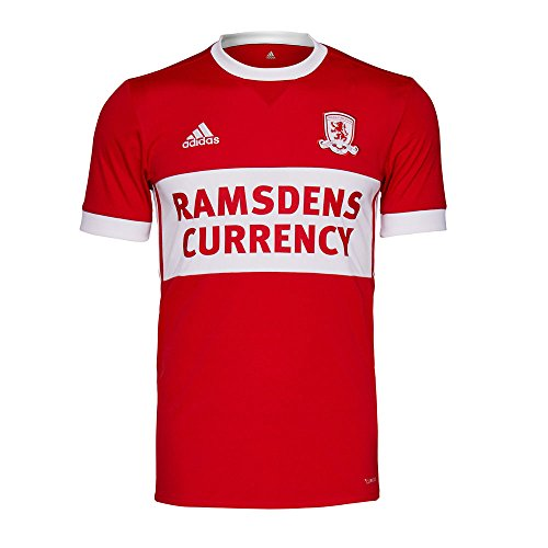 Adidas 2017-2018 Middlesbrough Home Football Soccer T-Shirt Maglia