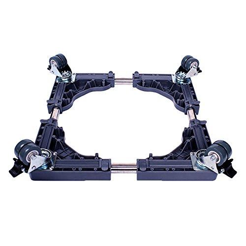 Basis Waschmaschine Justierbares Universalwaschmaschinen-Regal-Kühlschrank-Anhänger, Der Mit Rolle Sich Erhöht,4doublewheelswithbrakes-Blue -