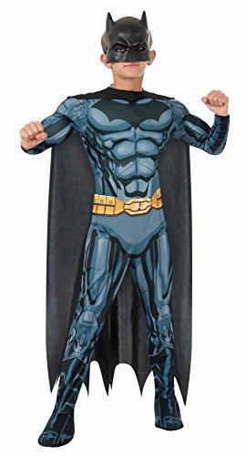 DC Comics Kinder Kostüm Batman Deluxe Overall Cape Maske Gr.M(5-6J.)