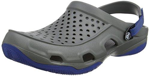 Crocs Swiftwater Deck Clog Men, Hombre Zueco, Gris (Slate Grey), 41-42 EU