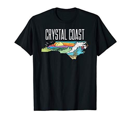 Crystal Coast State of North Carolina Outdoors Graphic  T-Shirt (Carolina-shirt East)