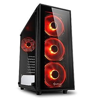 Sharkoon TG4 PC-Gehäuse Rot