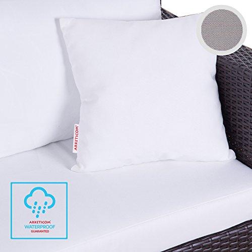 Arketicom ALADINO Kissen für Außenbereich, Wasserabweisend, wasserundurchlässig Modern 40X40 102 Grigio