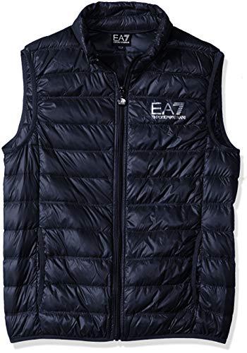 EA7 Emporio Armani Herren Weste - Lightweight Dauenweste Daunenjacke leichte Jacke mit Stehkragen, gesteppte Optik, Farbe:Dunkelblau;Größe:L
