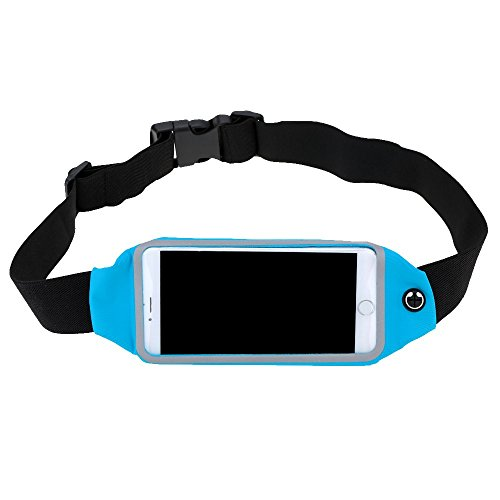 Sac Banane Sac de Taille Zippé Etui de Téléphone 4.7 inch pour Sport Jogging Running Fitness - Bleu
