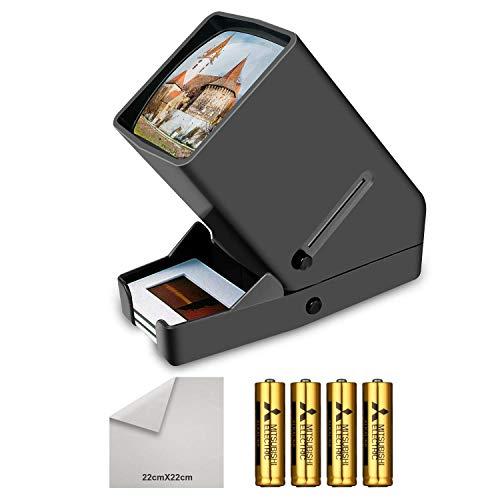 35mm Portable LED Negativ und Diaprojektor LED Tageslicht Desktop Diabetrachter 3X Vergrößerung für 35mm Dias