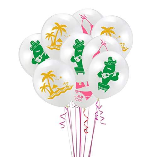 Amosfun Tropische Party Dekoration Luftballons Set Hawaiian Party Luftballons für Hawaii Themen Sommer Party Supplies, Tropical / Tiki / Sommer Pool Party Dekorationen liefert 24 STK