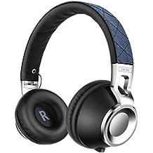 Cuffie, Sound Intone CX-05 Stereo Headset Pieghevole Regolabile Elastico Fascia Compatibile con Smartphones, Ipad, Ipod, PC (Blu)