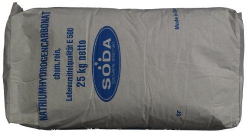 Natron 25kg in Lebensmittelqualität E500ii (Backsoda, Natriumbicarbonat) versandkostenfrei!