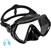 Supertrip Snorkeling Freediving Mask Adult Anti-Fog Film Tempered Glass Panoramic Scuba Diving Goggles