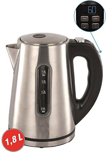 Grafner® Digitaler Wasserkocher Edelstahl mit Temperaturwahl und Display Warmhaltefunktion Füllstandanzeige