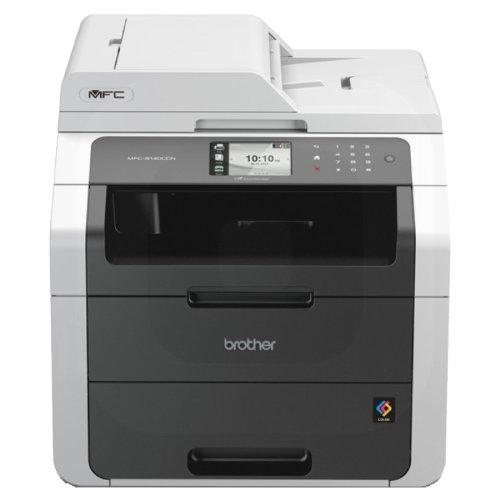 Brother MFC9140CDN Multifunktionsgerät (Drucker, Kopierer, Scanner, Fax, Bis zu 2400x600dpi, USB 2.0, Duplex-Druck) anthrazit/grau