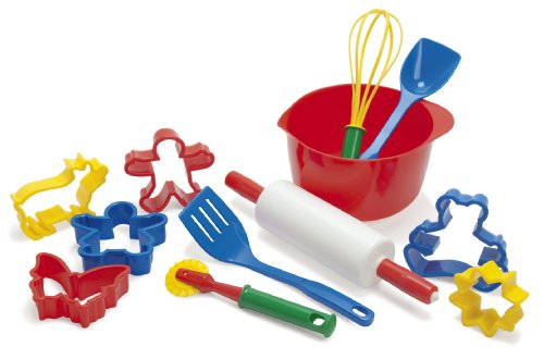 Dantoy Baking Set, Role Play Toys for Kids with 12 Pieces, Made in Denmark – Multi Colour