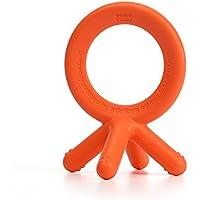 Comotomo Silicone Baby Teether, Orange