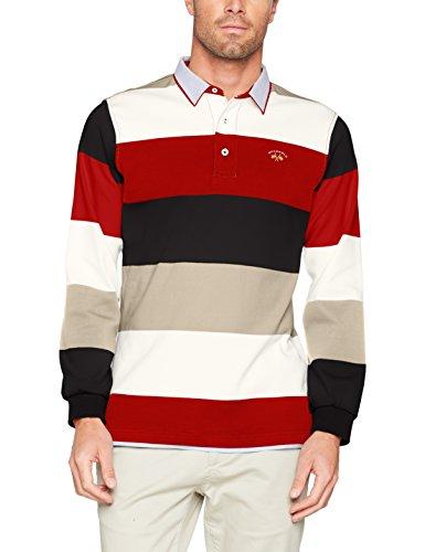 SPAGNOLO Herren Poloshirt Mehrfarbig (marineblau / grau / rot)