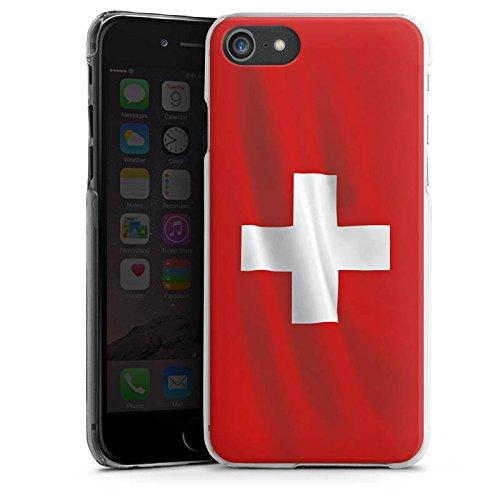 Apple iPhone X Silikon Hülle Case Schutzhülle Schweiz Flagge Switzerland Hard Case transparent