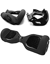 """Coque Silicone Hoverboard,Housse Protecteur Scratch pour 6.5 """" 2 Roues Self Balancing Scooter Hoverboard,Noir"""