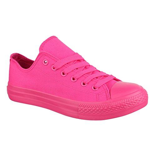 Elara Unisex Sneaker | Damen Herren | Low Top | Chunkyrayan ZY9032-12 Fuchsia-38