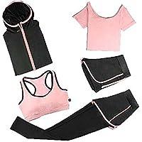 Blancho Bedding Traje Yoga/5 Pieza Activewear/chándal de Las Mujeres Traje de Gimnasia XL